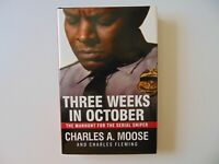 """""""Three Weeks In October"""" Charles Moose Hand Signed Book JG Autographs COA"""