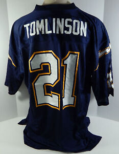 San Diego Chargers LaDainian Tomlinson #21 Authentic Blue Jersey Adidas NWT 58