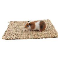 Grass Woven Guinea Pig Rabbit Hamster Bed Mat Straw Nest Cage Pet Chew Toys Tren