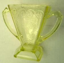 Indiana Depression Glass Yellow Sugar Bowl Flower Basket Pattern Lorain 1932