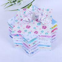 72Sheets Floral Square Folding Crane Origami Chiyogami Craft Lucky Wish Paper LJ