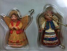 2007 Hallmark Keepsake Joy To The World 2 Miniature Angel Ornaments Mini Small