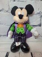 Disney World Parks Mickey Mouse  Vampire Halloween Green Dracula Plush Stuffed