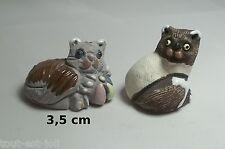 lot de chats miniature en porcelaine,collection,décoration,animal, cat,kat *A21