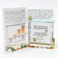 Eminence Tropical Vanilla Sun Cream SPF 32 SAMPLE Set of 6 Buy 1 Get 2 Free = 18