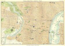 Philadelphia. CITY MAP PIANO. parte centrale. Pennsylvania. Britannica. 1898