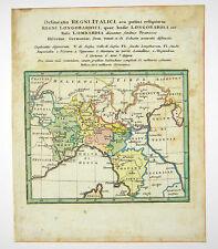 Toscana Genoa Italy Venice Modena altkol Copper Card Franz 1758 #d862s