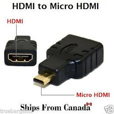 New HDMI Female to Micro HDMI Male Adapter Converter - Black HDMI Adaptor