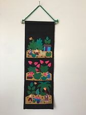 South America Folk Art Colorful Cloth Wall Hanging Letter Holder (LB2)