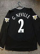 MANCHESTER UNITED 2003/04 AWAY SHIRT LONG SLEEVES ADULTS(M) 2 G.NEVILLE