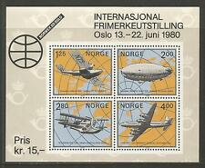 Norway 1979 NORWEX '80/Aviation ss--Attractive Airplane Topical (753) MNH
