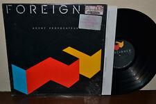 FOREIGNER Rare 1st Press STERLING Agent Provocateur SHRINK STICKER Vinyl Album