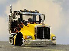 1/64 SPECCAST BLACK/FLAMES PETERBILT 385 DAY CAB