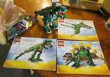 LEGO Creator 3-in-1 #4998 Stegosaurus T-Rex Pterodactyl Comp w/ 3 Manuals NO Box
