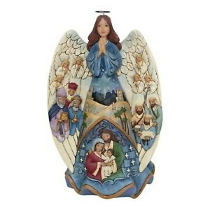 Jim Shore Miracle Wrapped In Love Musical Lighted Nativity Angel 6001481 MIB