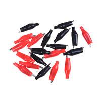 20x Red Black Soft Plastic Testing Probe Alligator Clips Crocodile Test Clip JP