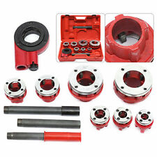 Ratcheting Pipe Threading Tool Pipe Threader Threading 38 To 2 Die Dies Set