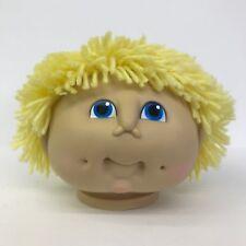 MN Thomas Yarn Hair Doll Head Boy Yellow Short Hair Blue Eyes 4in Vintage 1984