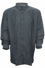 """TOM TAILOR """" Chambray """" Shirt Casual Long Sleeve Men's Button Down Blue 3XL"""