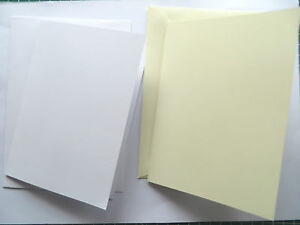 1,5,10,20  A5 White/Ivory Textured Greeting Craft Cards with Env. Pre-Scored A5