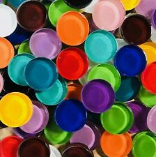 50 Round Circle 3/4 inch Mixed Colors Crystal Glass Mosaic Tiles - Art and Craft