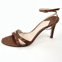 SAKS FIFTH AVENUE Camel Leather Slingback Heels Shoes Size 8B