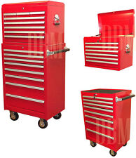 """Industrial 26"""" Tool Box Storage Roller Cabinet Chest Top Bottom Rolling Cart BBS"""