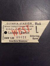 Ticket: Berlin V London 21/11/1951 In Olympia Stadion Berlin