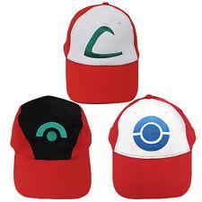 Fashion Men Women Pokemon Ash Ketchum Trainer Cosplay Sun Hat Baseball Cap Gift