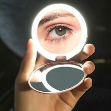 Portable Makeup Compact Mirror Magnifying Lighted Cosmetic Vanity Pocket Mirror