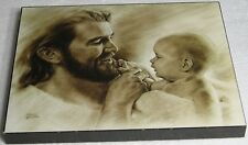 Precious Jesus Christ Baby Picture Plaque - David Bowman Religious Spiritual Art