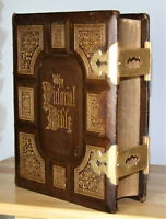 1873 antique family Holy Bible 12lbs.  Brassd clasps  **STUNNING**
