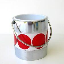 Seau à Glace - Glaçons  - Très Vintage année 70 - Pois Rouge - Ice Bucket