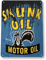 Skunk Oil Gas Oil Garage Auto Shop Rustic Metal Decor Sign