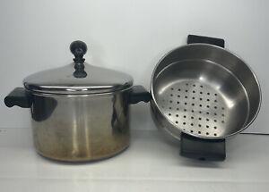 Farberware Classic Stainless Steel Sauce pot Steamer Insert and Lid 3 Quart