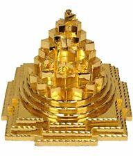 Metal Laxmi Meru Shree Yantra Gold Plated 4 X4 X4 cms Pack of 1