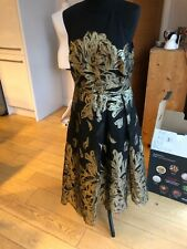 Coast Gold Leaf Jacquard Dress Size 14 Label. More Like A Size 10