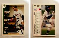 Lance Johnson Signed 1991 Upper Deck #248 Card Chicago White Sox Auto Autograph