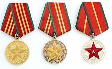 Original Russian Soviet KGB 10 15 20 Years Excellent Service Medals USSR CCCP