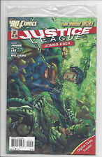 JUSTICE LEAGUE #2 (1st PRINT) COMBO PACK FACTORY SEALED DC NEW 52 2011 NM
