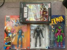 Marvel Legends Figure Lot 80 ironman retro dazzler,black panther ,green goblin