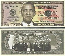 NOBAMA Trillion Dollar Bill Collectible Fake Play Funny Money Novelty Note