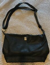 "Brooklyn Industries Leather Look Alike Crossbody Handbag Black 15""x9"""