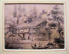 Famiglia lathbury (3 uno chalet Svizzero T. husin matita 1831