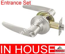 Door handles,lock! -entrance set-satin finish(6591)