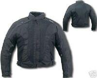 NEW Black MESH Armored Motorcycle BIKER Jacket w/Zipout waterproof liner Reg$149