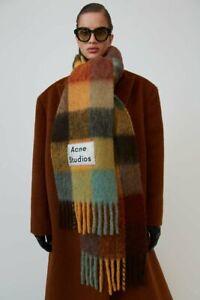 Acne Studios Scarf Scarves Thick Multi Color Cashmere Shawl