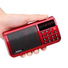 FM/MW/SW Radio Speaker MP3 Player w/ Flashlight Sleep timer Clock 18650 Battery