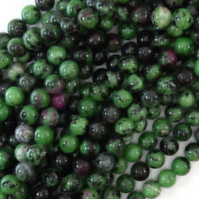 """Natural Ruby Zoisite Round Beads Gemstone 15.5"""" Strand 4mm 6mm 8mm 10mm 12mm"""
