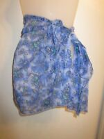 Swim Cover Up Skirt Floral True Blue Lace Mesh Beach Pool Party Beach Sheer
